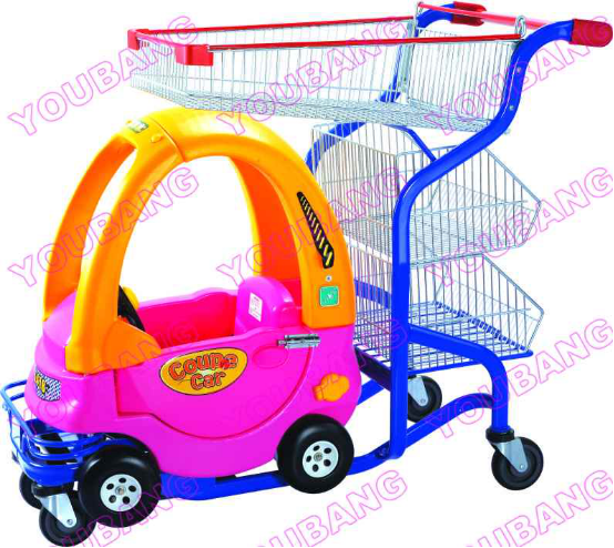 Powder Coated Children Supermarket Shopping Trolley