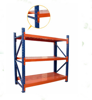 3 layer medium duty long span steel warehouse racking with plate