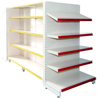 Perforated back panel shelving